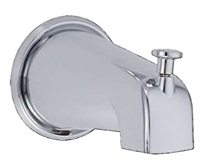 Danze D606425 8 Inch Wall Mount Tub Spout With Diverter Chrome Faucet Aerators And Adapters