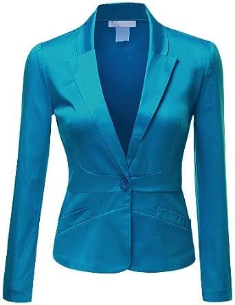 Doublju Women Simple Tailored Boyfriend Cropped Blazer Suit Jacket at