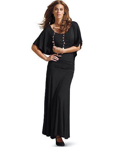 Ankle-length batwing dress