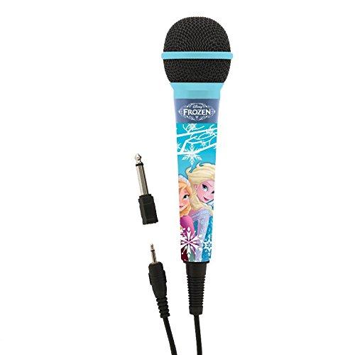Frozen - Micrófono para karaoke, color azul (Lexibook MIC100FZ)