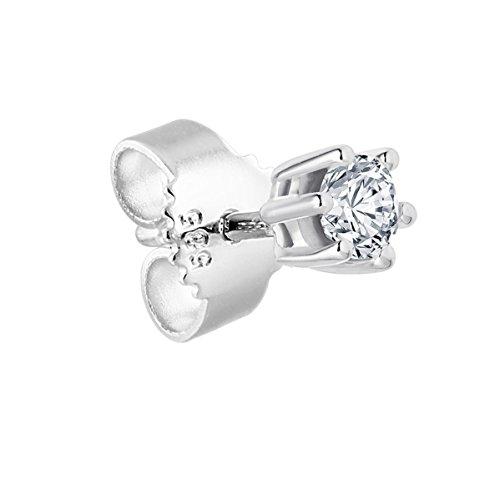 Imagen principal de Bella Donna 100759 - Pendientes unisex de oro blanco (14k) con 1 diamante