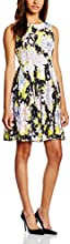 French Connection Damen Kleid BOTANICAL TRIP LACE SLS DRESS, Midi, Mehrfarbig