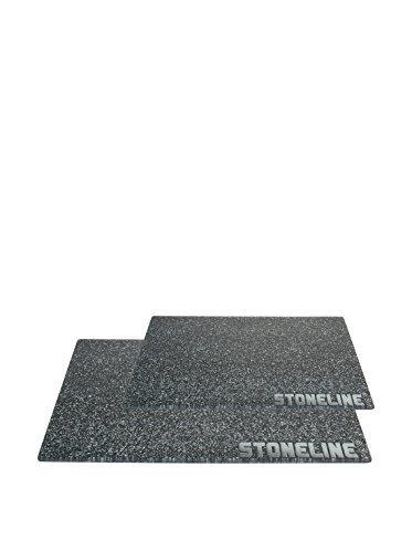 Stoneline 10339 Set di 2 Taglieri in Vetro Temperato