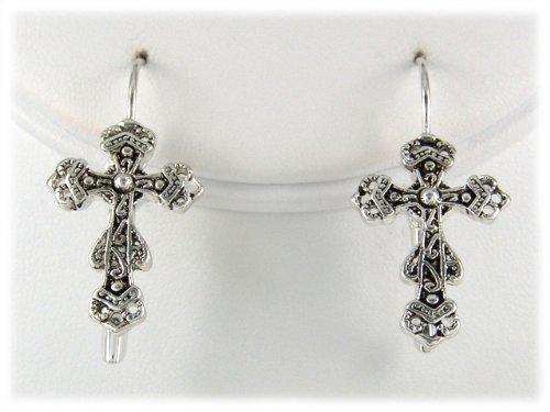 5030017 Christian Cross Scripture Bible Earrings