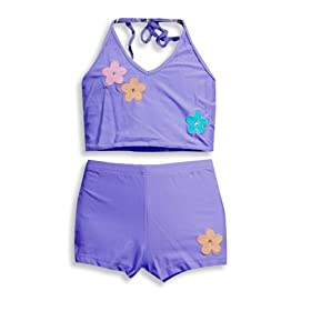 Lipstik - Girls 2 Piece Tankini Bathing Suit, Purple