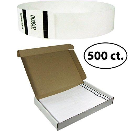 goldistock-select-series-with-box-tyvek-wristbands-formal-snowy-white-500-count-3-4-premium-tyvek-ev