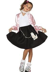 Black Poodle Skirt Costume for Kids M