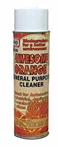 #1 Cleaner, Awesome Orange All Purpose Biodegradable Cleaner removes scuff marks, grease, inks, crayon, smoke film, wax, dirty hand prints, most surfaces SMELLS AWESOME! perfect for gym equipment & critical cleaning requirements 18oz FREE 50 STATE SHIPPIN