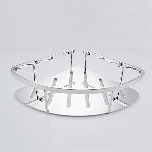 Kes a2220b bathroom corner 2 tier triangular tub and - Bathroom corner caddy stainless steel ...
