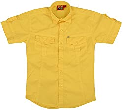 Titli Baby Boys Cotton Shirt (3-4 years, Yellow)