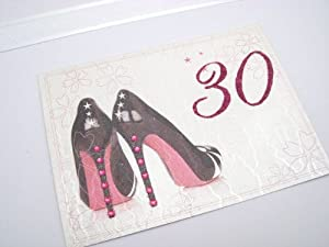 White Cotton Cards 30th Birthday Keepsake Box, Large, Black Shoe
