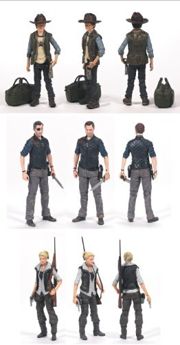 Walking Dead TV Series 4 Set of 3 Action Figures: Andrea, Carl & The Governor