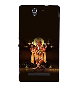 printtech Lord God Ganesha Back Case Cover for Sony Xperia C3 Dual D2502::Sony Xperia C3 D2533