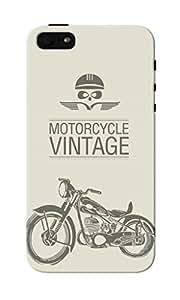 CimaCase Vintage Motorcycle Designer 3D Printed Case Cover For Apple iPhone 5S