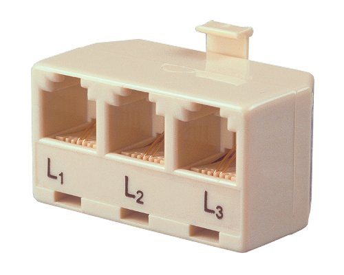 Allen Tel AT173A Three Single-Line Phones to a Single Modular Outlet Triplex Modular Adapter