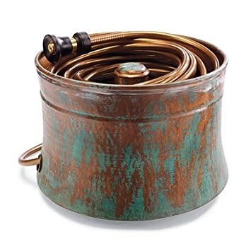 "Patina Copper Hose Pot - Large (20"" dia. x 15""H) - Frontgate"