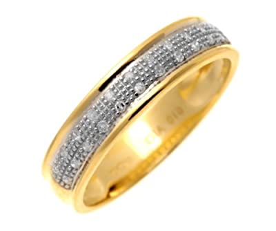 Ariel 9ct Yellow Gold 0.10ct Diamond Band Ring