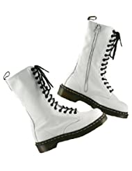 Dr. Martens 1B99, 14 Eyelet, Womens Napa Leather Boots, White