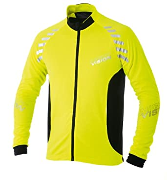 Altura Night Vision Long Sleeve Cycling Jersey 2012 X Large Yellow