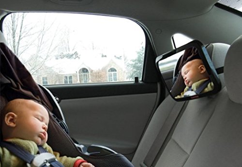 DaffaDoot-Back-Seat-Mirror-New-2016-Model-Extra-Large-Baby-Rear-Seat-Mirror-Two-Free-Bonus-Gifts-Superior-View-Shatterproof-Crash-Tested-Beautiful-Gift-Box-Perfect-Pivot-for-Perfect-View-of-Baby-Backe