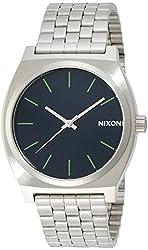 NIXON TIME TELLER: MIDNIGHT BLUE / VOLT GREEN NA0451981-00