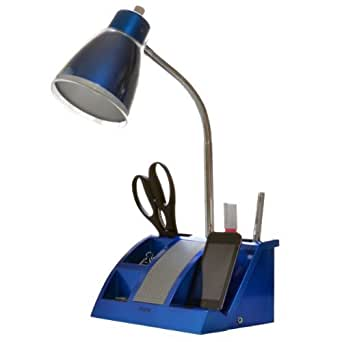 iHome iHL24-Blue Colortunes Desk Organizer Speaker Lamp with iPod Player Compartment, Blue
