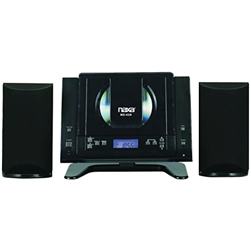 NAXA Electronics NS-439 Digital CD Microsystem with Bluetooth, Black (Tabletop Stereo Cd compare prices)