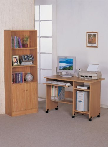 Buy Low Price Comfortable Computer Desk in Oak Finish #PD F41654 (B004HGWR0O)