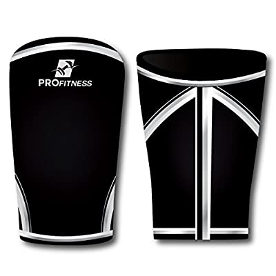 Knee 7mm Neoprene Support Sleeve And Compression Brace By ProFitness - Provides Maximum Support For Powerlifting, Weightlifting, Cross Fit & Intense Workout - Prevent Injuries & Assist Fast Recovery
