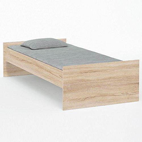 Jugendbett-90200-cm-sonoma-eiche-grau-Kinderbett-Jugendliege-Bettliege-Bett-Bettgestell-Holz-Gstebett-Studenten-Jugendzimmer-Kinderzimmer