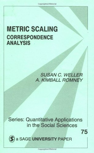 Metric Scaling: Correspondence Analysis (Quantitative Applications in the Social Sciences)