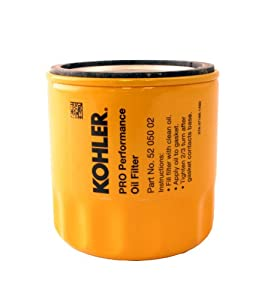 KOHLER 52 050 02-S Engine Oil Filter Extra Capacity For CH11 - CH15, CV11 - CV22, M18 - M20, MV16 - MV20 And K582 by KOHLER