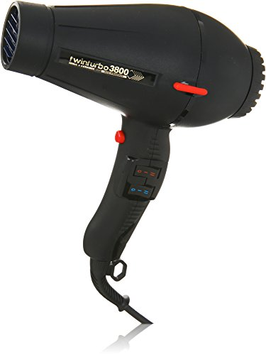 Pibbs TTEC8012 Twin Turbo 3800 Professional Ionic and Ceramic Hair Dryer, Black, 2100 Watt (Turbo Hair Dryer Professional compare prices)
