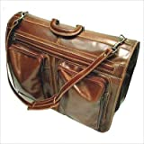 Floto Venezia Black Leather Garment Bag Suitcase