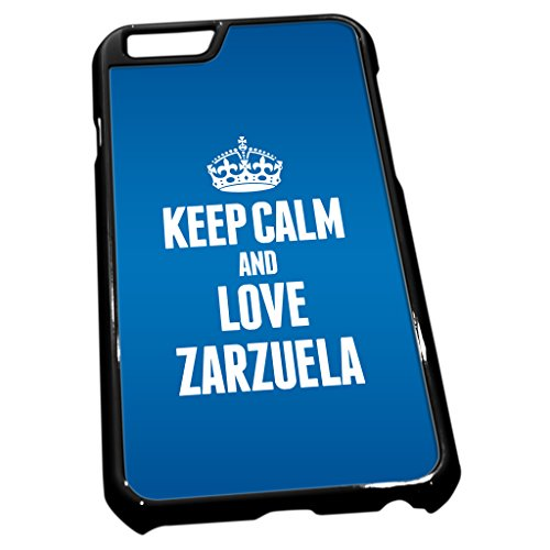Noir coque pour iPhone 61670Bleu Keep Calm and Love Zarzuela