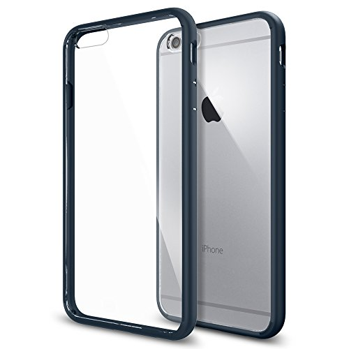 iPhone 6 Plus ケース, Spigen® [ クリア バンパー] ウルトラ・ハイブリッド Apple iPhone (5.5) アイフォン 6 プラス カバー (国内正規品) (メタル・スレート SGP10897)