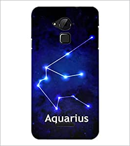 PrintDhaba Zodiac Aquarius D-3253 Back Case Cover for COOLPAD NOTE 3 LITE (Multi-Coloured)