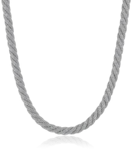Twist Rope Stainless Steel Mesh Chain Necklace