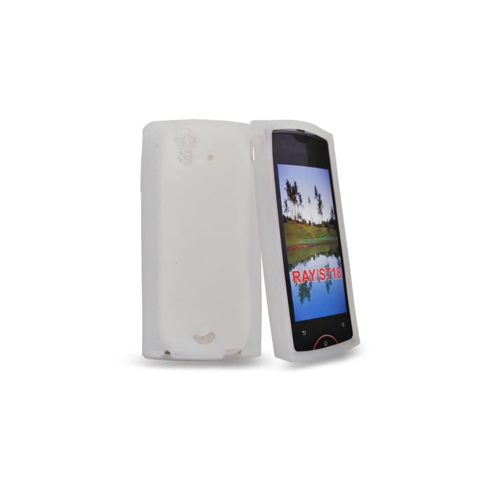Mobile Palace  White silicone case cover for sony ericsson xperia ray