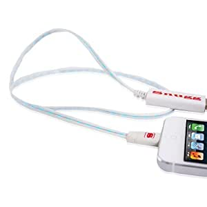 Snugg LiveWire Flowing Light Charging Cable - Visible Flowing Light USB to Lightning Connector Sync & Charging Cable - For the iPhone 5, iPad Mini, iPad 4