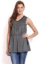 Femenino Grey Coloured Embellished Tunic
