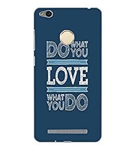 XIAOMI REDMI 3S PRIME LOVE TEXT Back Cover by PRINTSWAG