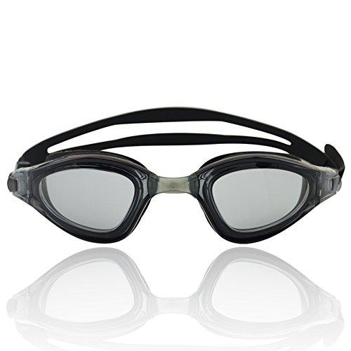 »Shark« Schwimmbrille / 100% UV-Schutz + Antibeschlag / Starkes Silikonband + stabile Box / Große Farbauswahl.