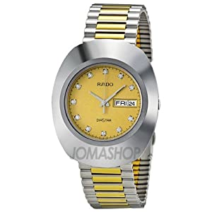 Amazon.com: Rado Quartz, Two Tone Stainless Band Yellow Dial - Men's