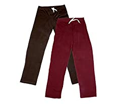 Indistar Women Super Combo Pack 4 (Pack of 2 Lower/Track Pant and 2 T-Shirt)_Brown::Maroon::Red::Blue_XL