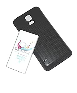 GB 6500mAh Extended Battery Black Cover Case for SamSung Galaxy S5 V
