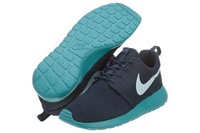 Men's Nike Roshe Run 511881 443 Squadron Blue Fiberglass Sport Turquoise Running Shoe (Men's Size 8, Squadron Blue Fiberglass Sport Turquoise)