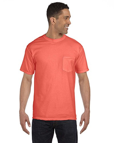 Comfort Colors 6.1 oz. Garment-Dyed Pocket T-Shirt, 2XL, BRIGHT SALMON (Garment Dyed T Shirt compare prices)