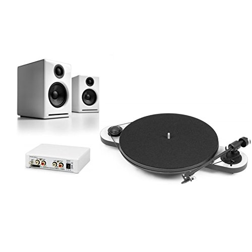 Pro-Ject Elemental Turntable Bundle with Phono Box and Audioengine A2+ Speakers (White) (Turntable Elemental compare prices)