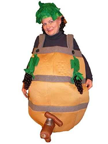 [Fantasy World Adults Wine Barrel Costume 8-10 / M Sy27] (Wine And Cheese Couples Costume)